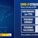 Image for the Tweet beginning: 📢#LoEstamosConsiguiendo Datos actualizados #15Mayo #España
