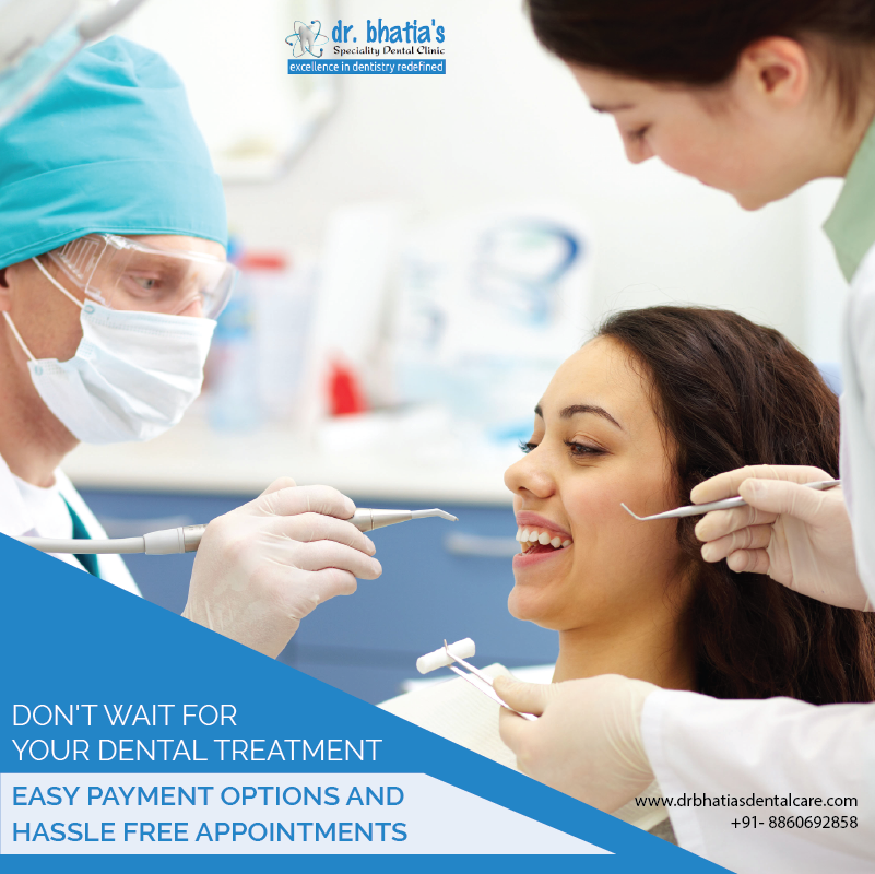 Don't wait for your dental treatment Easy payment options and hassle-free appointment Visit https://drbhatiasdentalcare.com/ or call +91-8860692858. #dentalcare #dentistry #dentalclinic #oralhealth #dentaltreatment #teethproblem #gumproblem #happyteeth #smile #Drbhatia #Gurgaonpic.twitter.com/jf6FY92zSn