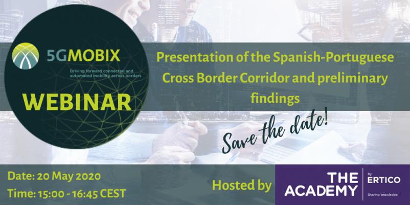 Save the date: 20 May 2020 -  webinar 5G-MOBIX: More info: https://t.co/FcYD6IxwPP Registration: https://t.co/eQpVSQkaoR #5GMOBIX #CCG #ICCS #ERTICO #CTAG #EuropeanCommission https://t.co/9kmHnPU6qj