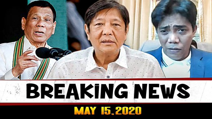 BREAKING NEWS MAY 15, 2020 PRES DUTERTE l ABS CBN l BONGBONG MARCOS l FRANCIS LEO MARCOS -  (2020)