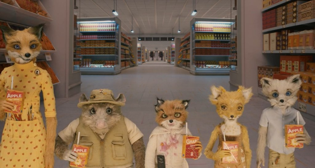 Movie Details On Twitter During The Final Scene Of Fantastic Mr Fox 2009 All Of Them Are Drinking Apple Juice Except For Ash Because He Is Different As Stated By Multiple