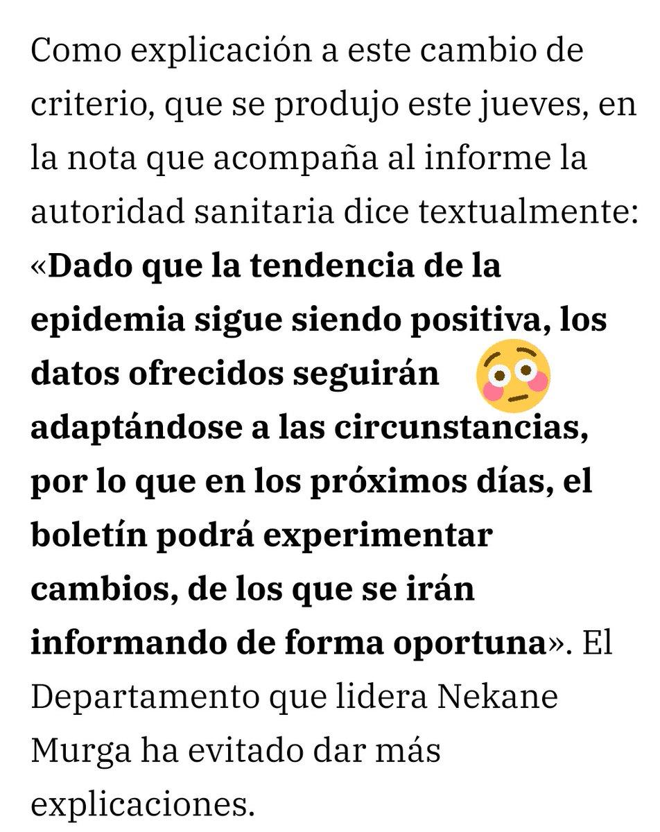 En lugar de adaptar las circunstancias a los datos, el Gobierno Vasco apuesta por adaptar los datos a las circunstancias. https://t.co/lJNMMyteLR