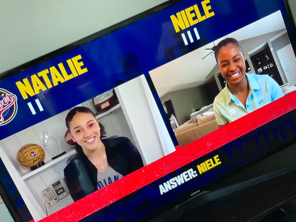 TUNED IN to 'NAT CHAT' hosted by @IndianaFever's @NatAchon with guest @ndwbb HC @IrishCoachIvey. 🏀  #wnba #indianafever #thisisballin #ndwbb https://t.co/kZGfkspFJ5