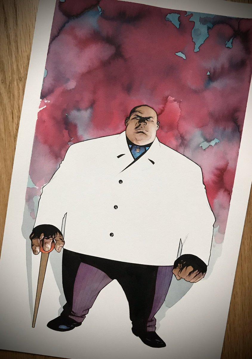 Kingpin #kingpin #marvelcomics #mckone tdartgallery.com/ArtistGalleryR…