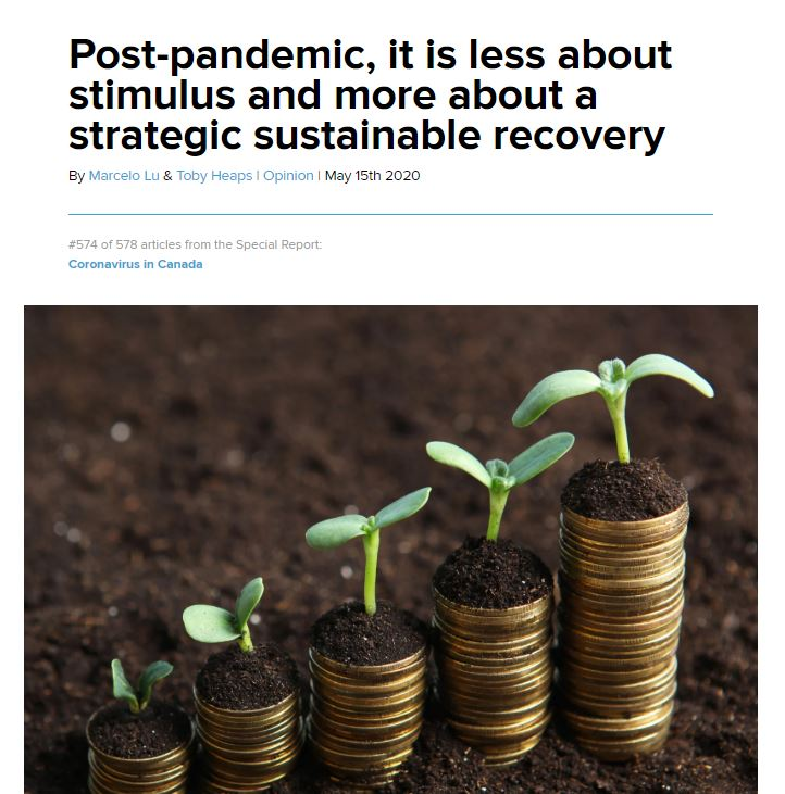 Don't miss our President @MarceloRochaLu1 and @tobyheaps's, CEO @corporateknight, insights about  the unprecedented opportunity for a sustainable economic recovery that the #Covid19 pandemic gives us, featured on @NatObserver. Check it here--> https://t.co/MY1aoG0BUe https://t.co/jFT1klakZv https://t.co/xjgJXCicbc