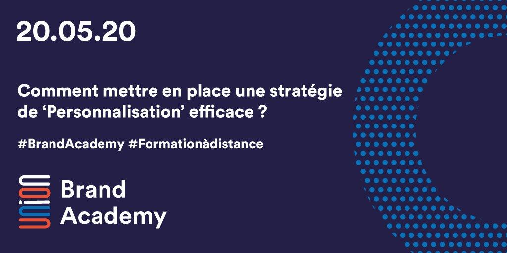 #BrandAcademy Formation à distance : Comment mettre en place une stratégie de 'Personnalisation' efficace ? >Stratégie de marque >#customerexperience, #datadrivenoptimization, ... @suttermillsnews @ElodieBugnon    🗓️20 mai 2020 à 9h30  S'inscrire : https://t.co/7KNoVZZipQ https://t.co/JAEySvs7Ae