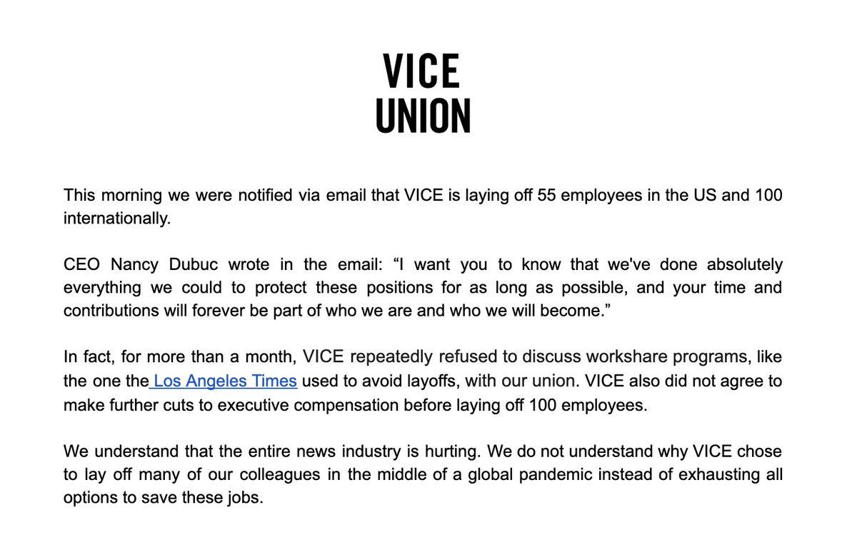 Our statement regarding today's layoffs: https://t.co/CCQlKDRXAX