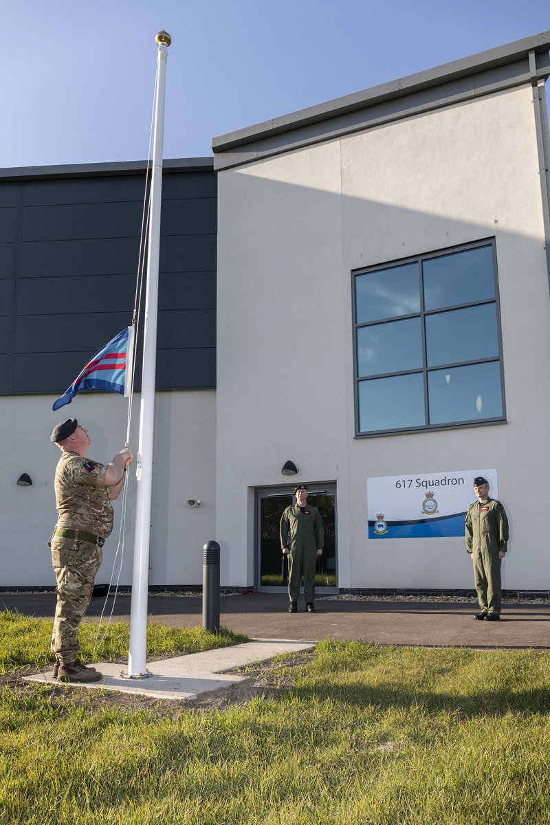 At 6:17pm on 2 April, Wg Cdr Butcher formally handed over command of the Dambusters to Cdr Sparrow. A very small but important parade took place as the command of @OC617Sqn was handed over to a @RoyalNavy Officer for the first time in the Squadrons history https://t.co/aZIMHaCTdS https://t.co/wyP0fQEJQJ