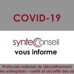 Image for the Tweet beginning: Le protocole national de déconfinement