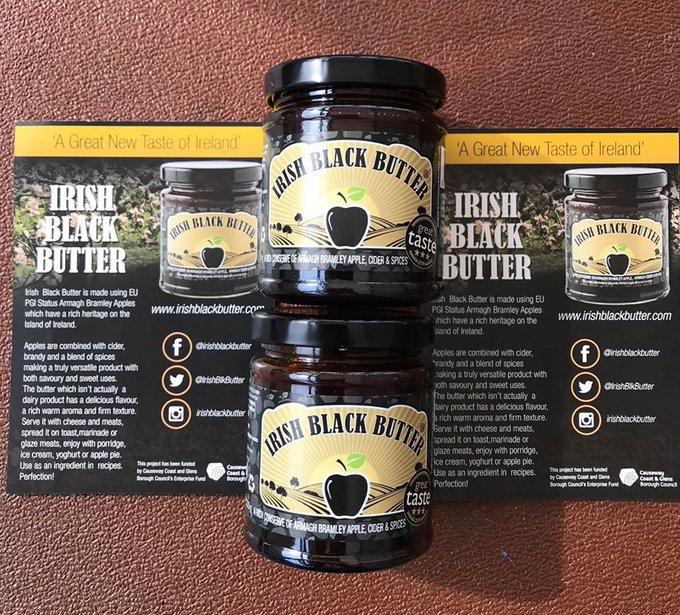 #ispygreattaste in this pic from Irish Black Butter As seen on BBC Two Dragons Den and a three star #GreatTasteAwards winner in 2019. Packed with EU Pgi status Armagh Bramley Apples, Armagh Cider & Spices. #veganbutter #applebutter Find out more at https://www.irishblackbutter.com/ pic.twitter.com/NPYDIjE58C