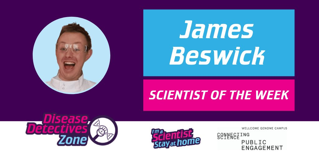 Well done to @jamesbeswick_ of @OfficialUoM, Scientist of the Week for the #IASStayAtHome Disease Detectives Zone, funded by @WGCEngage 🥳 https://t.co/DouO3tA5R6 #IASStayAtHome https://t.co/ocgX8JhgtP