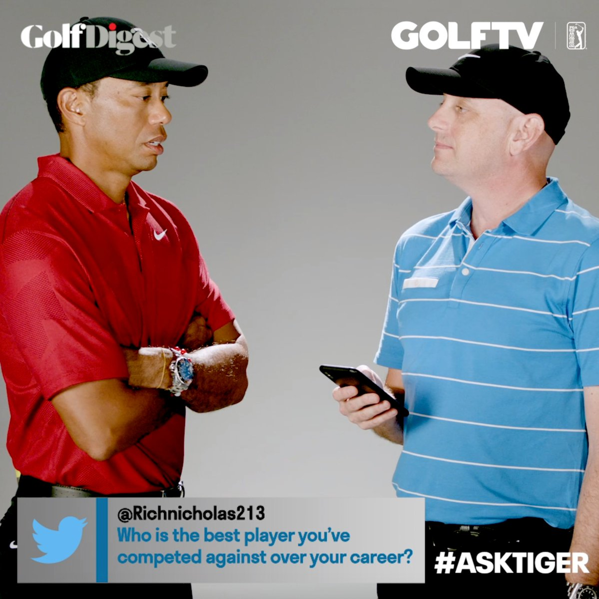 Who does @TigerWoods consider the best player he has faced in his career? #AskTiger