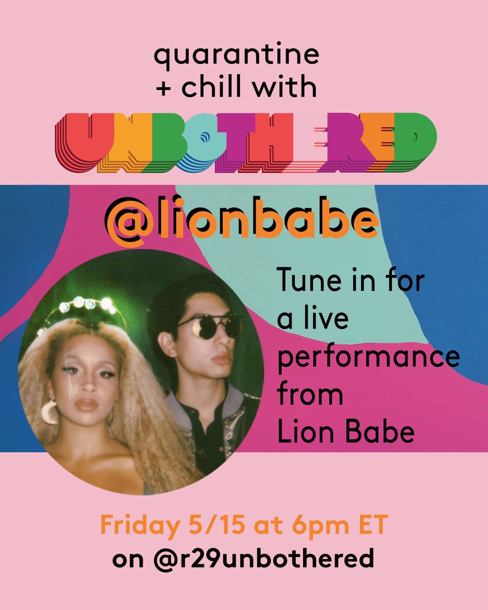 🚨Weekend Vibes! Doing a short set for #refinery29 today! Head to #r29unbothered on @instagram to watch! 6PM est! #LIONBABE #LIVE