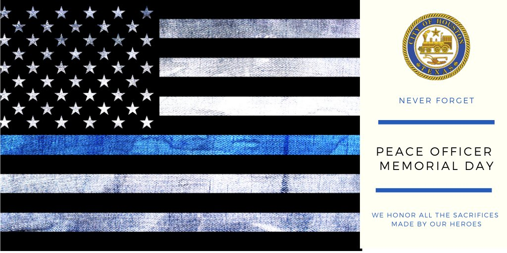 Today, we honor & remember law enforcement officers who have died or been gravely injured in the line of duty. While we can not gather in person this year to remember them, the brave men & women who died in service to others are never forgotten.   #PeaceOfficersMemorialDay <br>http://pic.twitter.com/9kBEhiDiyq