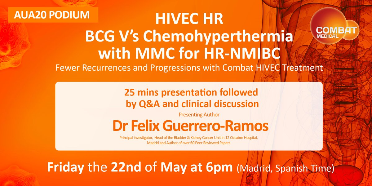 If you're free later today, 6pm Madrid time, please join us #HIVEC for presentation Q&A on HIVEC HR trial