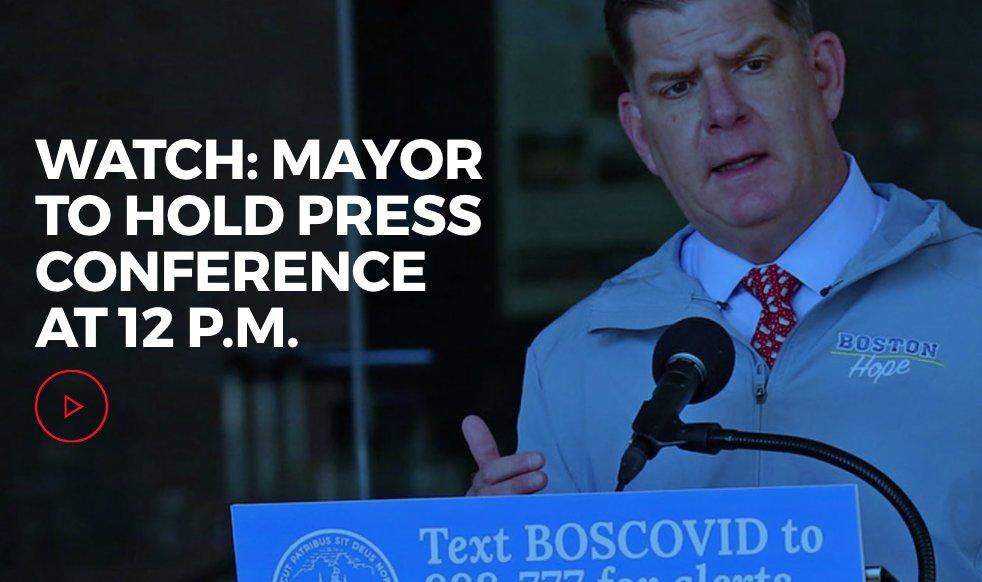 Mayor @marty_walsh will hold a #coronavirus #COVID19 press conference at 12 p.m. ow.ly/JKaU50zH8S0