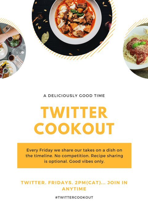 Decided to participate on the weekly #TwitterCookout, so will be sharing all the dishes I do under this thread 😀