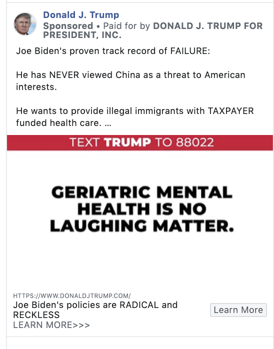 Lets recap: Mourning In America = Banned on Facebook This 👇 Trump Campaign Ad = Not banned on Facebook Paging @PolitiFact and @Facebook