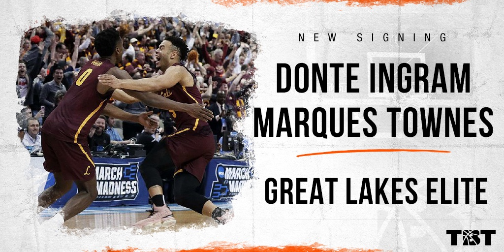 🚨ALERT🚨: Great Lakes Elite (@GLETBT) signs Donte Ingram and Marques Townes for TBT 2020.  The duo helped lead Loyola Chicago to its first Final Four in program history in 2018. https://t.co/07EEZnn34A