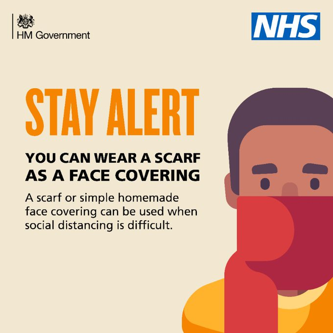 You should consider using a face covering in enclosed public spaces like shops or on public transport. Full info: gov.uk/government/new…
