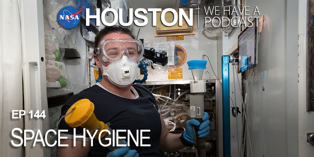 """""""Yesterday's coffee is today's coffee."""" Crew systems experts who train @NASA_astronauts explain what that means and teach us a thing or two on how our spacefarers maintain their hygiene while aboard the @space_station on """"Houston, We Have a Podcast."""" https://t.co/XeiuP02wfm https://t.co/S9vYoIGeBY"""