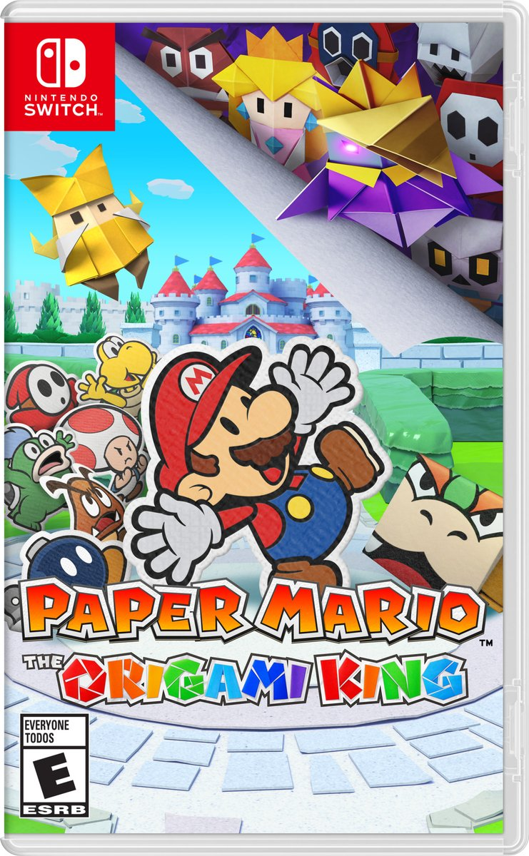 The #PaperMario series is making its debut on #NintendoSwitch! Here's a look at the box art featuring Mario and the Origami King himself. Unfold the schemes of the Origami King in Paper Mario: The Origami King on 7/17!