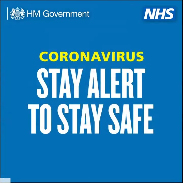 You can play your part in stopping the spread of #coronavirus. If youre planning to to go out over the #BankHoliday, make sure to keep 2 metres apart from others. #StayAlert | #COVID19