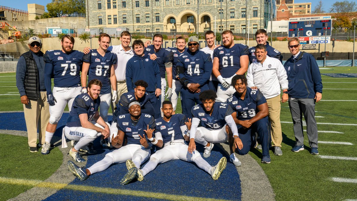Congrats to the incredible Class of 2020. We appreciate all of your hard work and dedication. We stand on your shoulders as we continue to build an incredible program on the Hilltop. #thankyou #4for40 #sisu #menforothers #howyoudoanything #hoyas