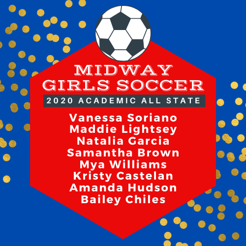 Congratulations to these young ladies! @MidwayHS @Midway_soccer