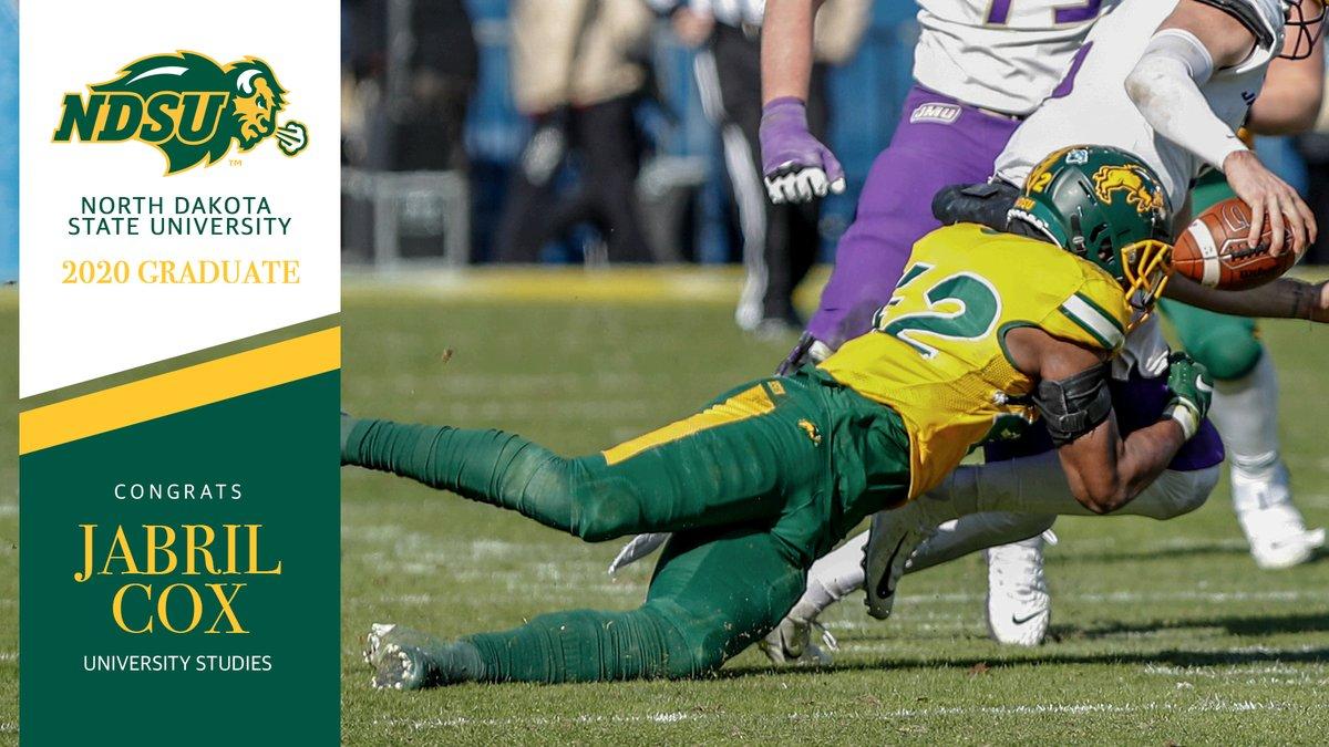 Congratulations #42 🤘🏼  Jabril Cox | Linebacker | Kansas City, MO   🎓 𝐔𝐧𝐢𝐯𝐞𝐫𝐬𝐢𝐭𝐲 𝐒𝐭𝐮𝐝𝐢𝐞𝐬   #OnceABisonAlwaysABison  #NDSUGrad https://t.co/lnjgyAis9Y
