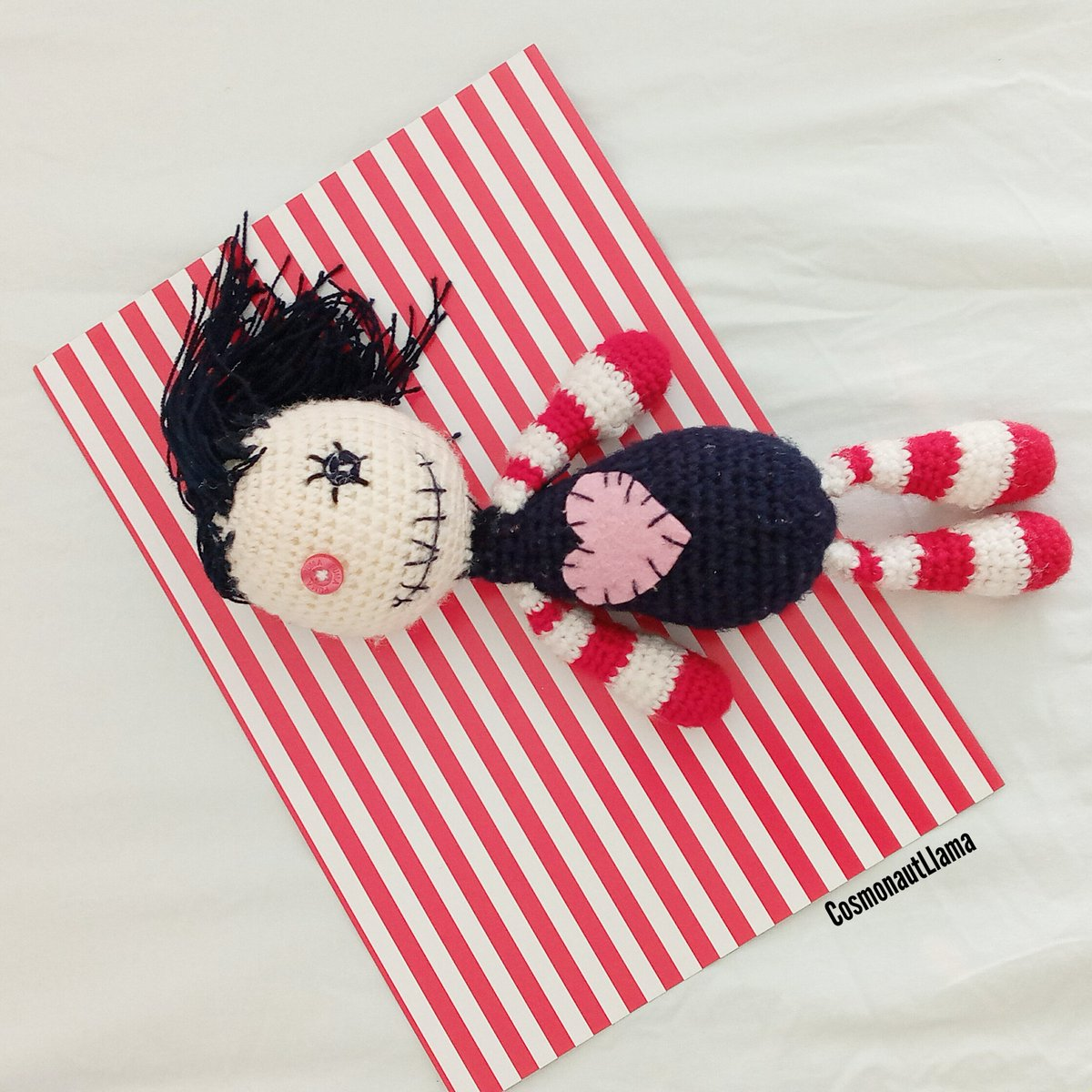 FULL PATTERN: Creepy Cute Voodoo Doll crochet pattern with Cat and ...   1200x1200