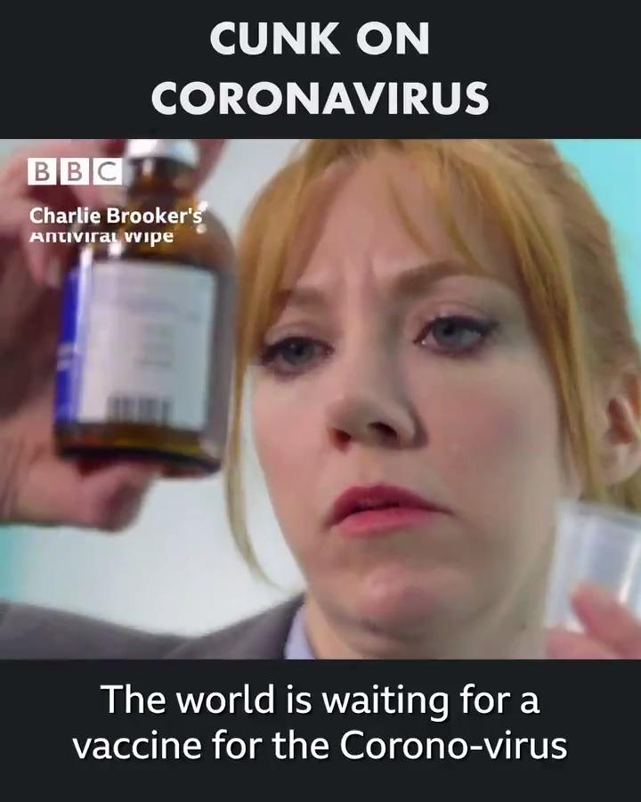 Who havent we heard from yet on Coronavirus? Oh right, Philomena Cunk! #AntiviralWipe
