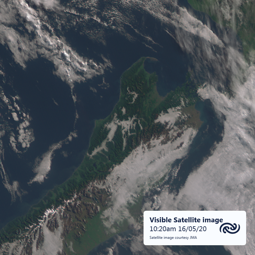 JMA's Himawari 8 captures the shapes of valley fog over the upper South Island from 36,000km away in space. This is a visible image made by combining three wavelengths, but we use lots of different images in the forecast room. More about that here blog.metservice.com/SatelliteImages ^AJ