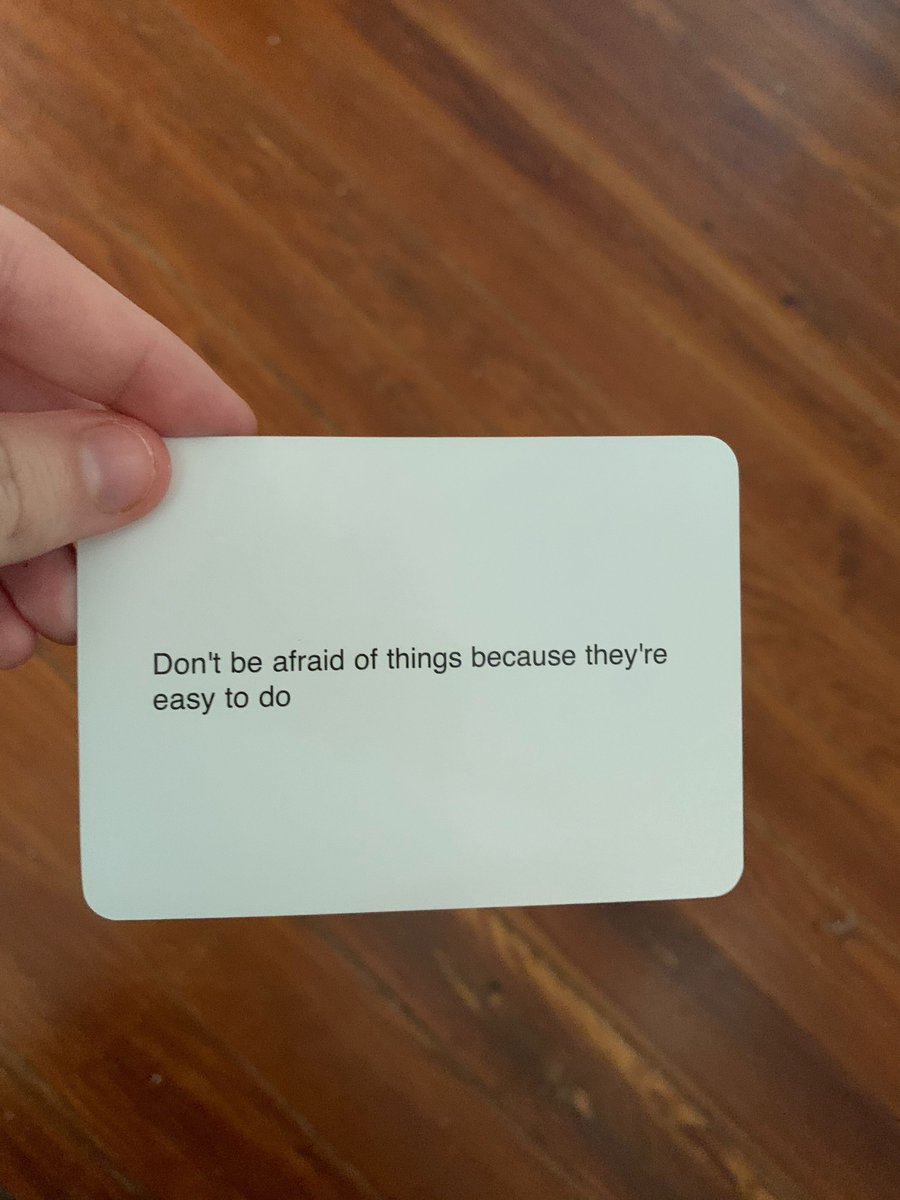 but seriously what a truly inspiring artist! Heres an oblique strategy card for ALL of you: