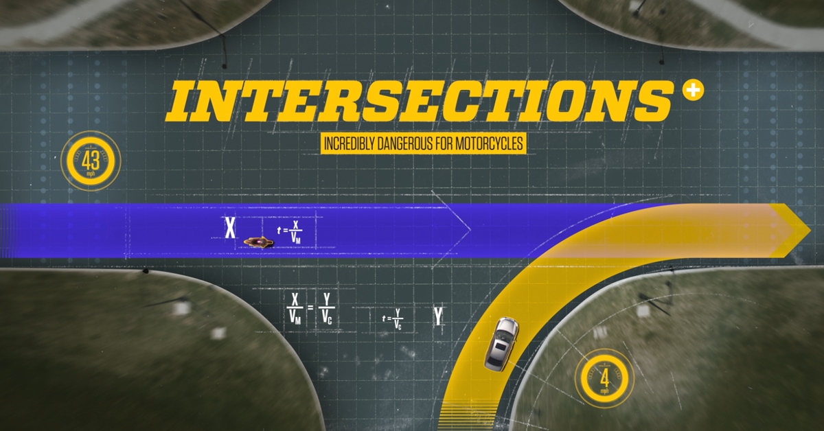 Slow your decision-making process down at intersections. Proceed with caution and #LookTwice for motorcycles.