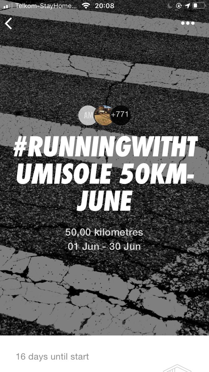 #RunningWithTumiSole June 2020 Challenges up on NRC App. 50kms 100kms 150kms Join the movement & invite me via the app using my handle @tumisole Gijima Mgijimi Run 🏃🏿♂️🏃🏿♂️🏃🏿♂️🏃🏿♂️