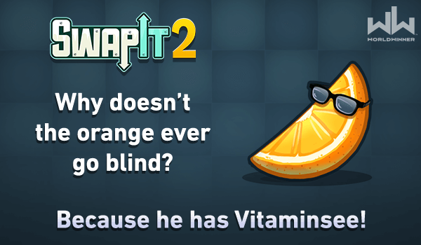Happy #friyay! Here's your #fridayfunny! 🍊😂  Play #SwapIt 2 for more fruity fun, at home or on the go!  🍊🍉🍌🍐🍓 https://t.co/LR3oGruYn8  #FridayFun #CashGames #RealMoney https://t.co/5hRghQlMj1