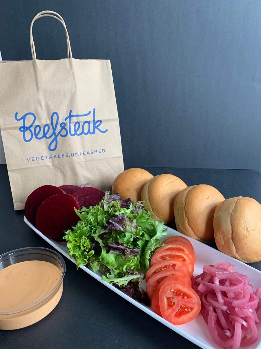 We've got dinner handled with the freshest burger in DC. Order our Take-and-Make Beet Burger Box, which includes 4 sets of Buns, Beet and Tomato Slices, Greens, Pickled Onions, and Chipotle Mayo. Perfect plant-based dinner for family night!   Order here: https://t.co/mT5NP5mXut https://t.co/E7SDbGyjhK