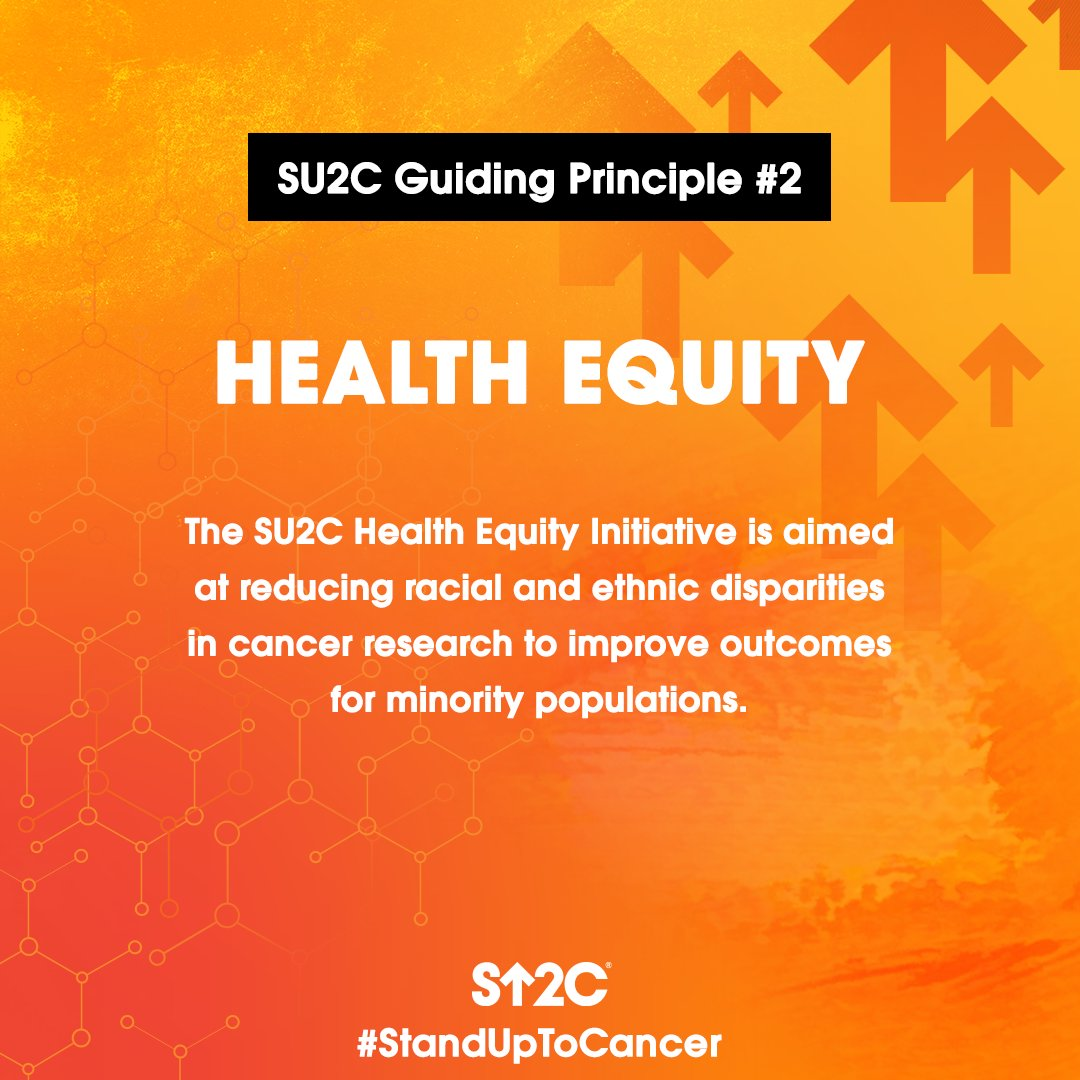 A second guiding principle of #StandUpToCancer is Health Equity. SU2C's research is focused on bringing better outcomes to all patients. Learn more about the importance of diverse participation in cancer clinical trials at StandUpToCancer.org/ClinicalTrials. #CancerResearchMonth #NCRM20