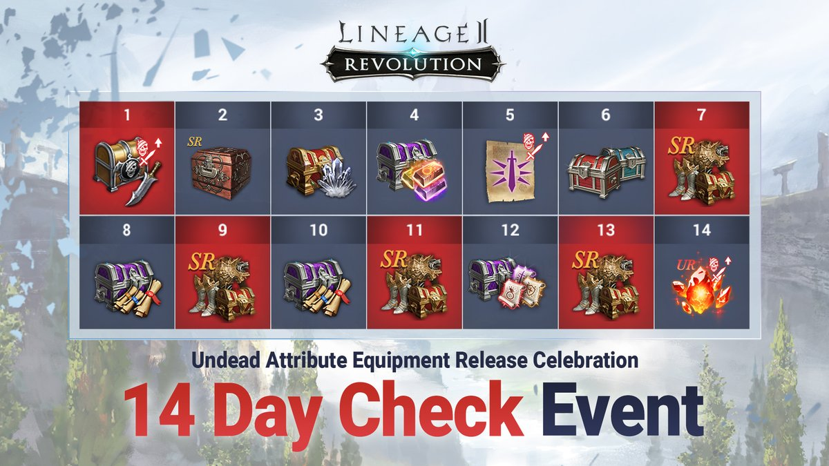 It's not too late to get all of the rewards from the Undead Equipment Release Celebration Check-in Event!  Check out our official forums: https://t.co/TivBnTQOqz  #Lineage2Revolution https://t.co/PwcsHhUjiJ