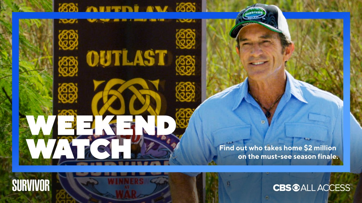 cbs all access on twitter an epic season finale of survivorcbs a priceisright primetime special with superstar rupaul a feel good special hosted by theneighborhood s cedentertainer an all new episode twitter