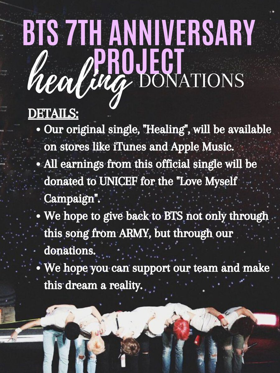 Nia On Twitter Bts Anniversary Song Project Announcement Our Song Healing For Bts Festa 2020 Will Be Available On All Streaming Platforms And Stores It Will Also Be Eligible To Chart On