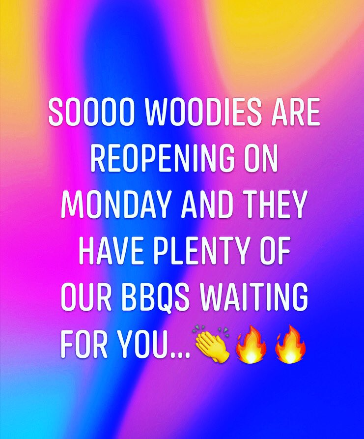 Get ready to run guys...  Our Sahara gas BBQs are stocked up in @woodies_ireland which is reopening on Monday 🏃‍♀️ 🏃🔥  #run #woodies #gas #bbq #bbqs #grilling #monday #saharabbqs #covid19 #grillnation #instagrill #family #fun #stayhome #staysafe https://t.co/2pUNTilLoJ