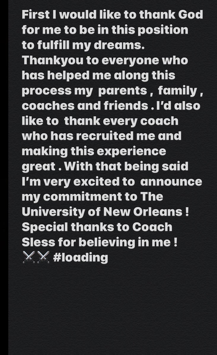 AGTG ! Committed !! #NOLAsTeam⚔️ #loading 🖤 https://t.co/EaXRJYu7Gp