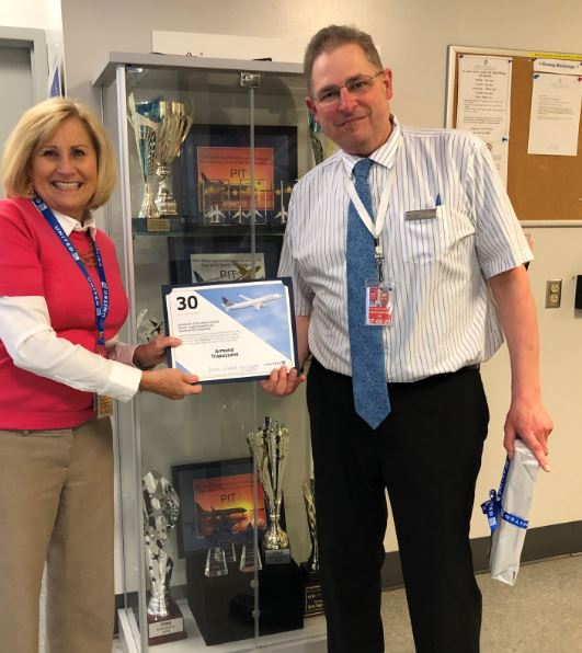 Congratulations Armond Trap Trapuzzano on your 30 Year Milestone delivering outstanding customer service at United . Your talents continue to set the bar high, and you certainly put the E in Efficient! @weareunited