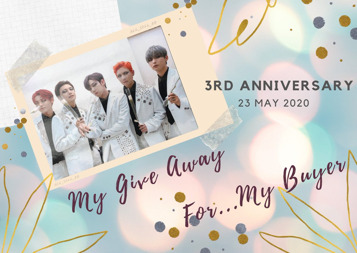 📌 My Give Away 📌 🎉 For 3rd A.C.E Anniversary 🎉  ❤️ Only my buyer ❤️  - Retweet this tweet with write greeting message to A.C.E  - Use this hashtag #Allsellbbgiveaway  😊 Start >> now !! 😊 End >> 22/05 😊 Pick winner >> 23/05  Good luck ~~🥰 https://t.co/cylKslIBPV