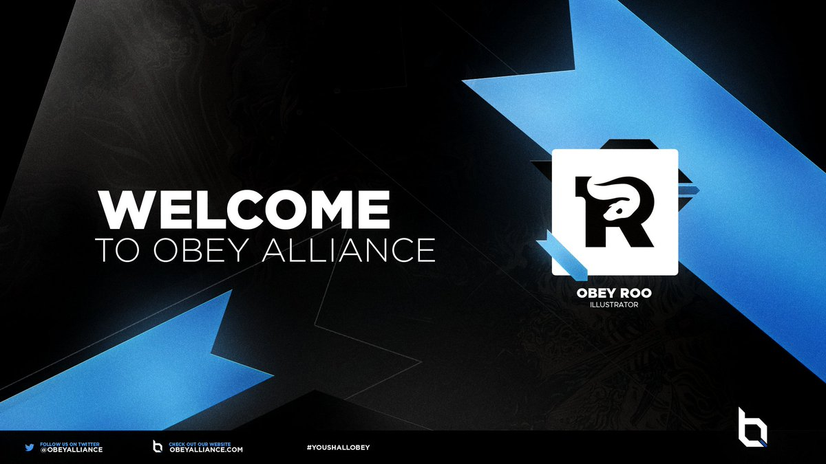 Please welcome our newest illustrator to Obey @GodBlessRoo @ObeyStudios #YouShallObey