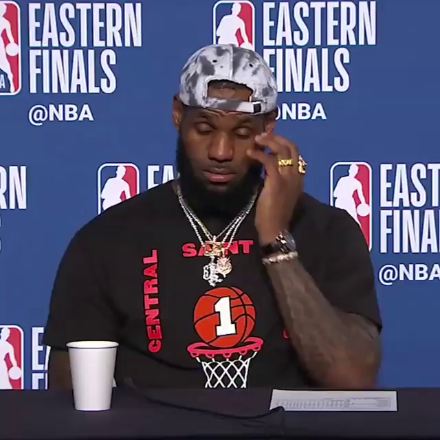 LeBron liked this question during his 2018 playoff run 😆