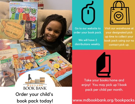 Looking for free children's books in Baltimore? Visit our website to sign up for a book pack! 📚❤️