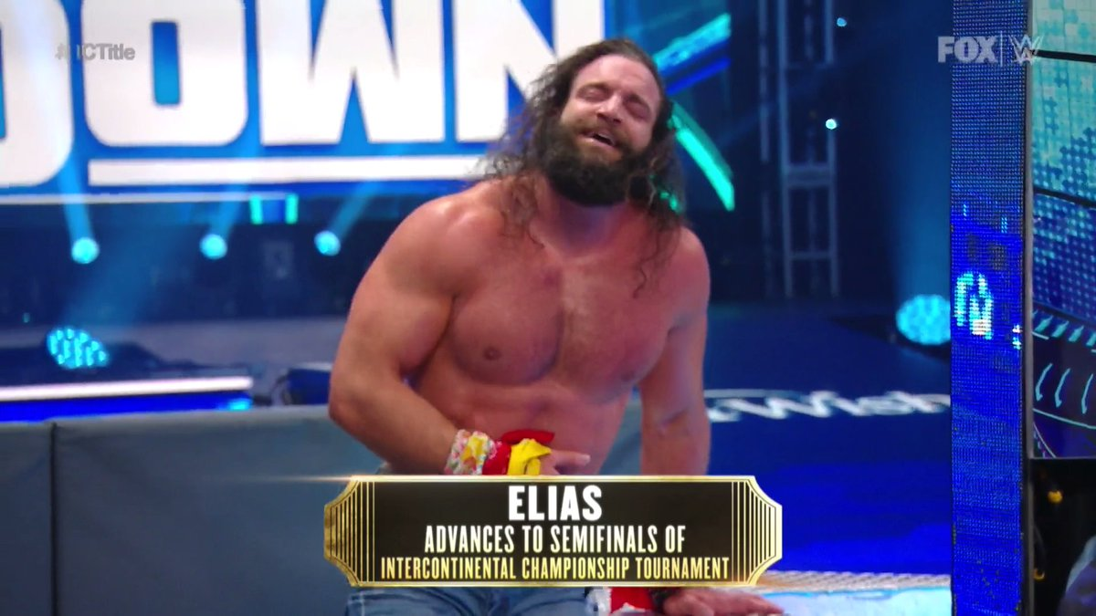 .@IAmEliasWWE is moving on in the #ICTitle tournament!  #SmackDown https://t.co/iWUB12f99Z